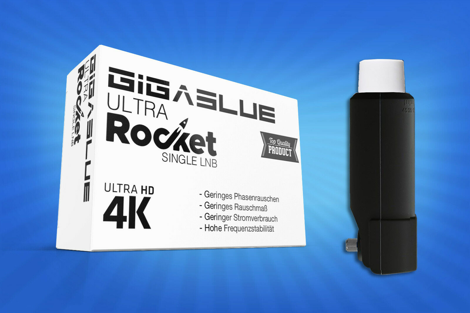 GigaBlue Rocket Quad Multifeed LNB 40/mm Feed 0.1dB Full HD
