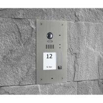 Preview: Balter EVIDA Silber RFID 2-Draht BUS Video Türstation 2x7 Monitor Set für 1 Familienhaus