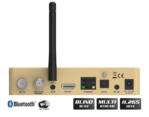 Edision OS nino pro DVB-S2X + DVB-T2/C Full HD Receiver gold