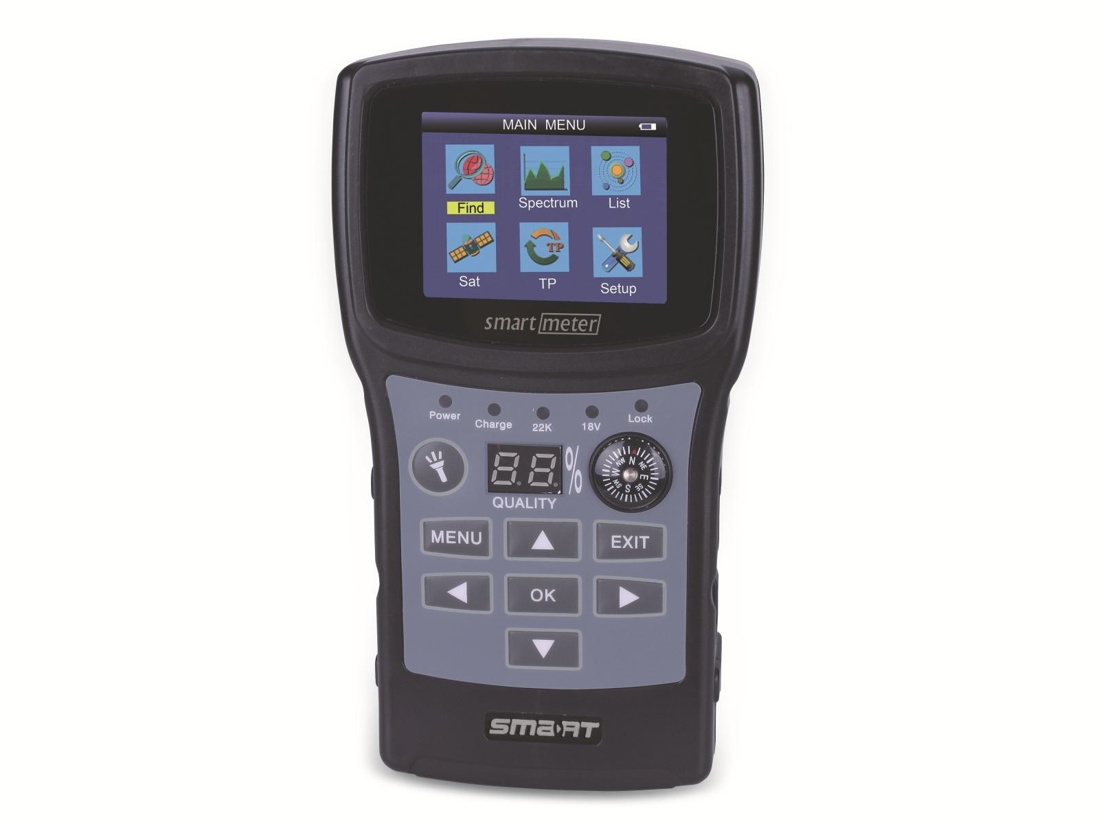 SMARTMETER ES1 Sat-Messgerät, Signalton, Kompass, DVB-S2