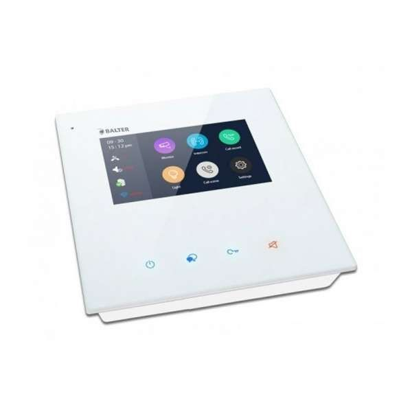 """BALTER JUNO 4,3 Wifi Videostation Touchscreen Bildschirm 2-Draht BUS Plexiglas Weiß"""""""