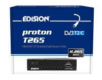 Vorschau: Edision proton T265 Full HD Hybrid DVB-T2/C Receiver schwarz