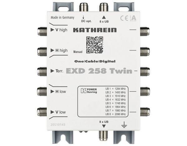 Kathrein EXD 258 Twin Unicable Kaskade 5 auf 2x8 zur Erweiterung