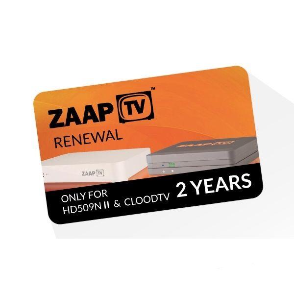 ZaapTV Verlängerung HD509N II & CloodTV - Laufzeit 2 Jahre