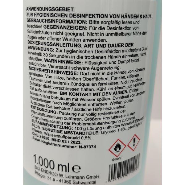Safety First Haut u. Hand Desinfektionsmittel Desinfektion 1000ml antibakteriell
