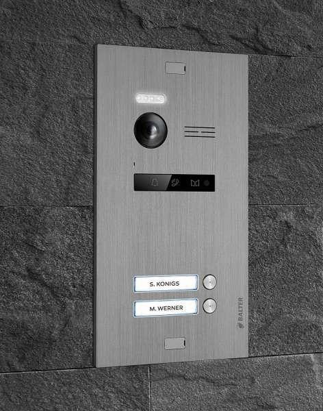 Balter EVO Silber Video Türsprechanlage Quick-Talk 2-Draht BUS Komplettsystem für 2 Teilnehmer