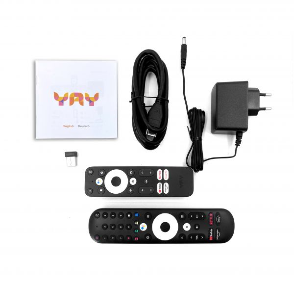 VU+ YAY GO PRO Android TV HIGH-END 4K UHD Streaming Box Android 10.0 und Chromecast integriert