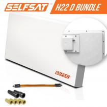 Vorschau: Selfsat H21D1+ 1 TV Teilnehmer SAT Flachantenne FLAT + profi Fensterdurchführung FULL HD