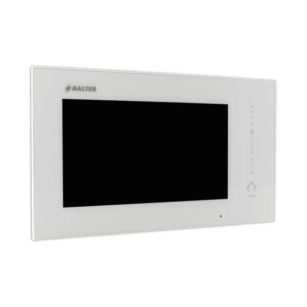 BALTER ERA Schwarz RFID 2-Draht BUS IP 7 WiFi Video Türstation iOS Android App für 4 Familienhaus