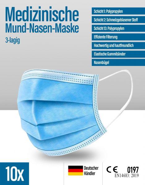 Medizinische Mund-Nasen-Maske 3-lagig steril verpackt #VARINFO