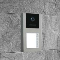 Preview: BALTER EVO-AP Silber RFID 2-Draht BUS Türstation für 4 Teilnehmer 120° Weitwinkelkamera
