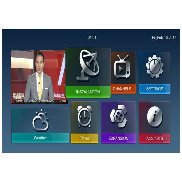 Viark Sat Full HD Sat H.265 HEVC Receiver DVB-S2 IPTV 1080p WLAN Cardreader Schwarz