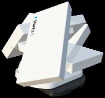 Preview: Selfsat Snipe 3 R Twin mit Fernbedienung GPS Vollautomatische Antenne Skew Sat System