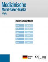 Preview: Medizinische Mund-Nasen-Maske 3-lagig steril verpackt #VARINFO