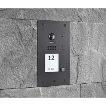 Preview: BALTER EVIDA Graphit RFID Edelstahl 2-Draht BUS Video Türstation 7 Monitor 1 Familienhaus Set