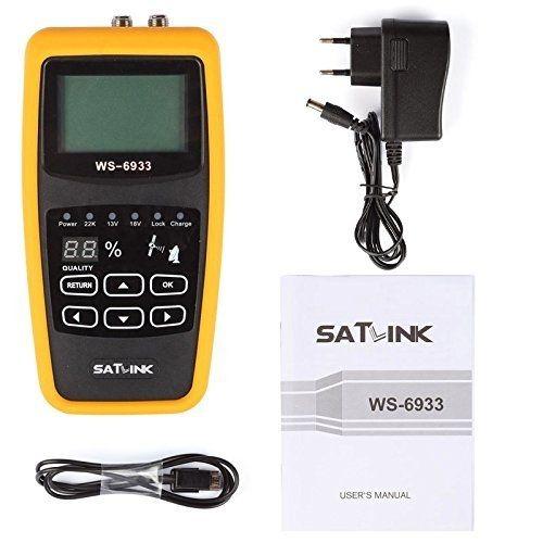 Satlink WS-6933 Camping Satfinder HD DVB-S + DVB-S2 8PSK SAT Messgerät EU