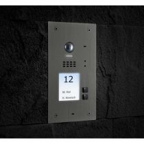 Vorschau: BALTER EVIDA Silber RFID Edelstahl Video Türstation 2 Teilnehmer 2-Draht BUS 170° Kamera