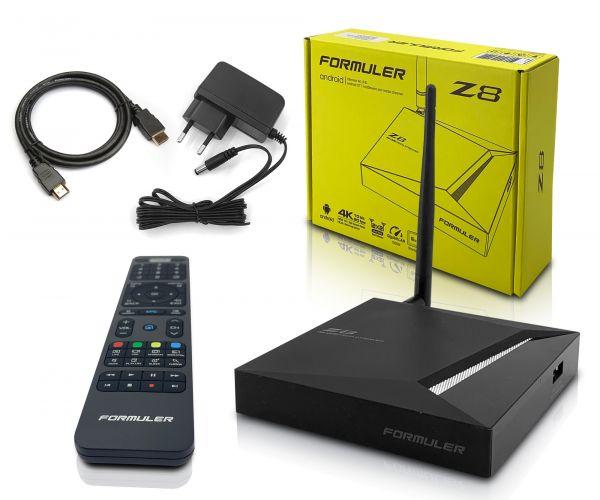 Formuler Z8 5G 4K UHD IPTV Android 7 Player H.265 2GB RAM 16GB Flash Gigabit 5GHz Wlan, Schwarz