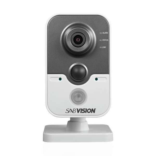 Sabvision 2400 IR Cube 2.5K QHD 4MP 2688 x 1520 Pixel 2.8-4mm Fixed WDR PoE IP-Kamera