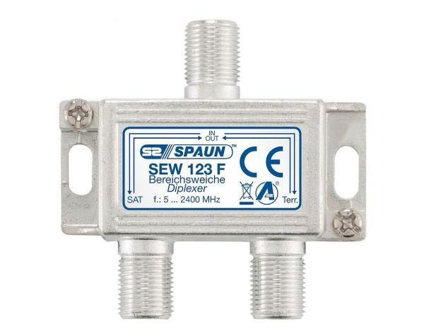 Spaun SEW 123 F Einspeiseweiche 5-862 und 950-2200 MHz