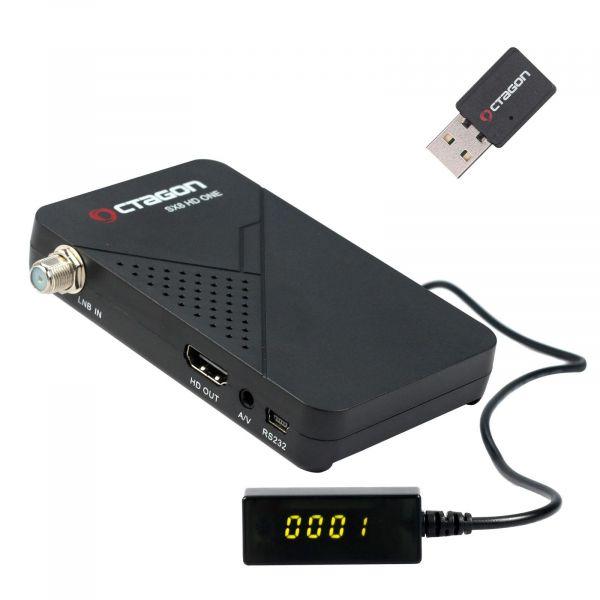 Octagon SX8 Mini Full HD DVB-S2 Multistream FTA Sat Receiver incl. Wlan mini 150 Mbit