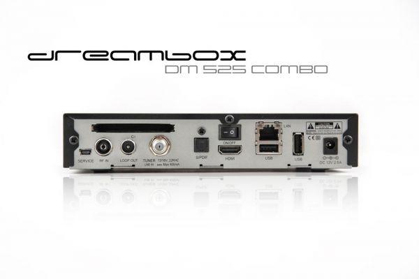 Dreambox DM525 HD Combo 1x DVB-S2 / 1x DVB-C/T2 Tuner PVR ready Full HD 1080p H.265 Linux Receiver