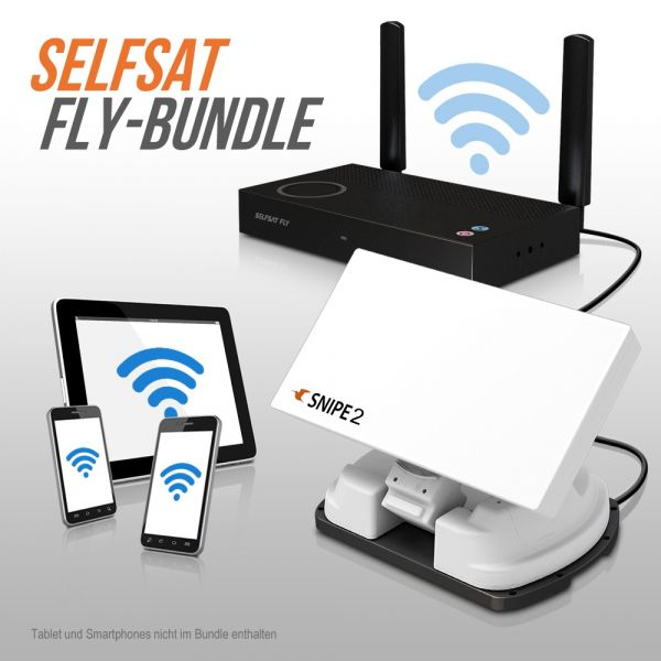 Selfsat SNIPE V2 Single FLY 100-Bundle Vollautomatische Satelliten Antenne
