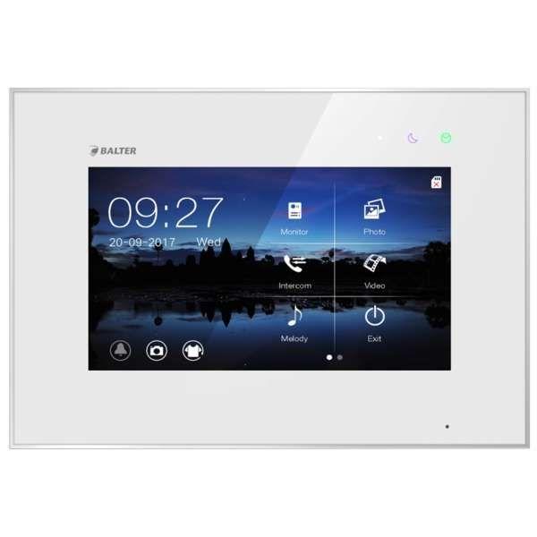 BALTER EVO 7 Videostation Touchscreen Bildschirm 2-Draht BUS Technologie Plexiglas Interkom Weiss