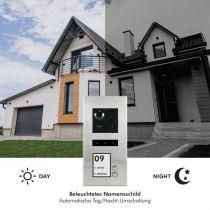 Preview: Balter ERA Silber RFID 2-Draht BUS IP Türstation 2 Familienhaus 150° Weitwinkelobjektiv Aufputz