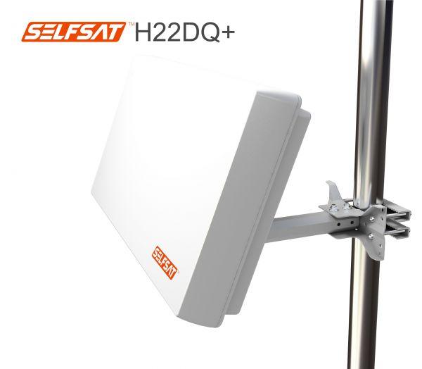 Selfsat H22DQ+ Flachantenne mit austauschbaren Quattro LNB
