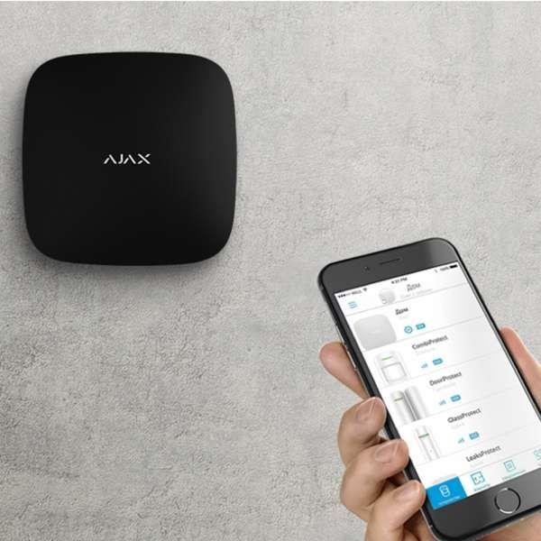 AJAX Alarmzentrale Hub 2 Plus Jeweller GSM LAN GPRS APP Steuerung Schwarz