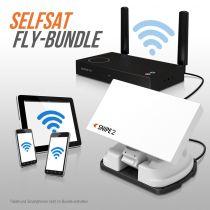 Vorschau: Selfsat SNIPE V2 Single FLY 100-Bundle Vollautomatische Satelliten Antenne