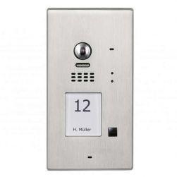 BALTER EVIDA Silber RFID Edelstahl-Türstation 1 Teilnehmer 2-Draht BUS 170° Kamera Aufputz