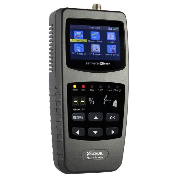 Xsarius Satmeter HD Easy Camping Satfinder HD DVB-S + DVB-S2 8PSK SAT Messgerät
