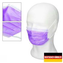 Vorschau: 50er Satz Mundschutz Atemschutzmaske Mund-Nasen-Schutz 3-lagig Schutzmaske Lila