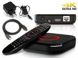MAG 424 IPTV Receiver SET TOP BOX 4K UHD HEVC H.265 Multimedia Player