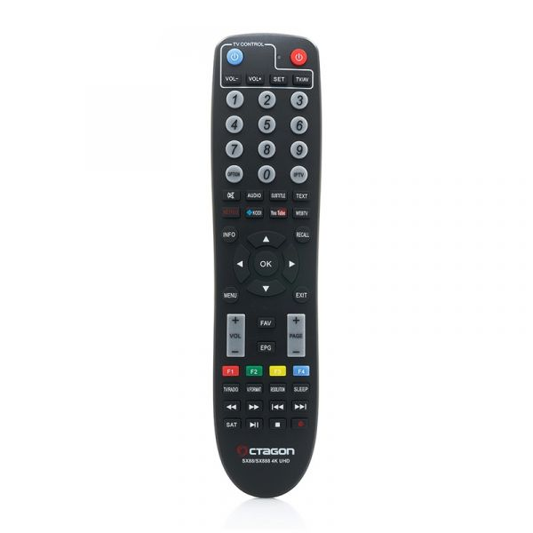 Octagon SX89 Full HD H.265 Linux LAN HDMI DVB-S2 Sat Tuner IP Receiver Schwarz