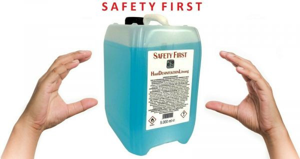 Safety First Händedesinfektionsmittel (5000ml) antibakteriell
