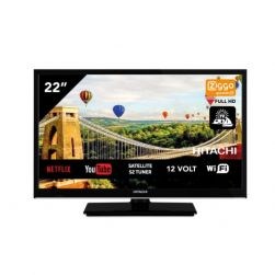Hitachi 22HE4002 AndroidTV Smart Wifi 22 Zoll 56cm Full HD LED TV DVB-S2/C/T2 - 12V / 220Volt