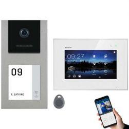 Balter EVO-AP Silber Video Türsprechanlage 7 WiFi Touchscreen RFID 2-Draht BUS Set für 1 Teilnehmer