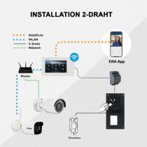 Vorschau: BALTER ERA Silber RFID 2-Draht BUS IP 7 WiFi Video Türstation iOS Android App für 1 Familienhaus