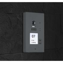 Preview: BALTER EVIDA Graphit RFID Edelstahl-Türstation 2 Teilnehmer 2-Draht BUS 170° Kamera Aufputz