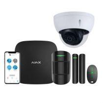 Preview: AJAX Alarmzentrale Hub Kit GSM LAN APP Steuerung Starter Paket Schwarz inkl. Dahua CAM