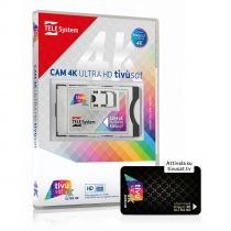 Preview: TiVusat Telesystem SmarCam 4K ULTRA HD CI+ inkl. Schwarz Smartkarte