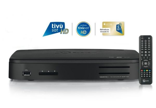Telesystem TS 9020 HD Twin Sat-Receiver USB PVR WiFi inkl. Tivusat HD Karte