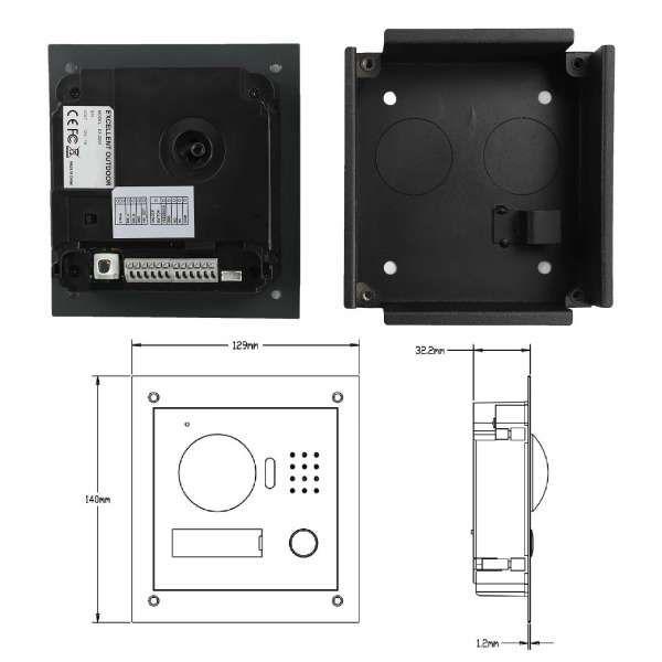 Excellent Video-Türsprechanlage 7 Touch LCD 2-Draht BUS Komplettsystem für 1 Teilnehmer Anthrazit
