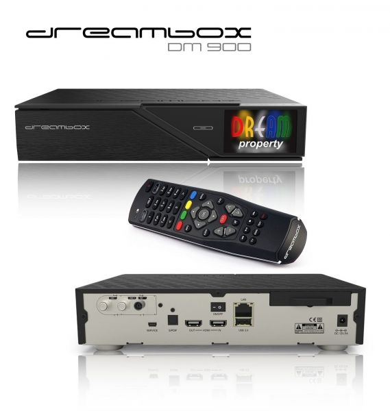 Dreambox DM900 UHD 4K 1x DVB-S2 FBC Twin Tuner E2 Linux PVR Receiver
