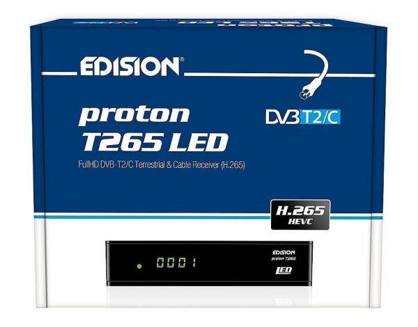 Edision proton T265 LED Full HD Hybrid DVB-T2/C Receiver schwarz