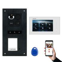 Preview: BALTER ERA Schwarz RFID 2-Draht BUS IP 7 WiFi Video Türstation iOS Android App für 1 Familienhaus