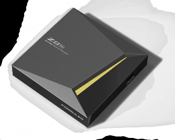Formuler Z8 Pro 5G 4K UHD IPTV Android 7 Player H.265 2GB RAM 16GB Flash Gigabit 5GHz Wlan, Schwarz